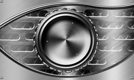 Mechanical eyes. Background metals used in industry Royalty Free Stock Photos