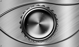 Mechanical eyes. Background metals used in industry Stock Photo