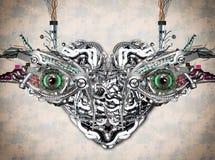 Mechanical eyes Stock Images