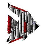 Mechanical fish on white. Stock Photos