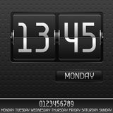 Mechanical flip clock with date Stock Photography