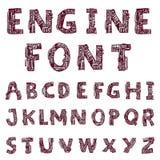 Mechanical font style - Vector illustration.  stock illustration