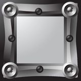 Mechanical frame. Digital element prop with central blank space for information Stock Photo