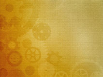 Mechanical  frame. Made from  gears  and warm  textures Royalty Free Stock Photo