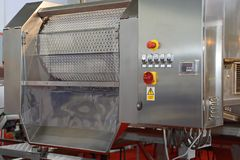 Mechanical Fruits Sorting Machine. Mechanical Fruit Calibrating and Sorting Machine stock images
