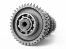 Mechanical gear. On isolated white background Stock Photo