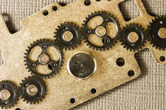 Mechanical gear assembly Stock Images