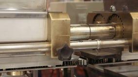 Mechanical gear equipment rotating cogwheel stock footage