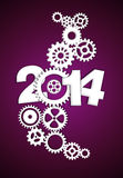 2014 Mechanical Gear purple. 2014 Mechanical Gear background wallpaper Royalty Free Stock Image