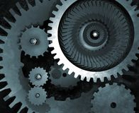 Mechanical Gears Royalty Free Stock Photography
