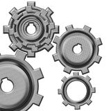 Mechanical gears. Abstract mechanical gears on white background vector illustration