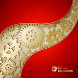 Mechanical gears background. Royalty Free Stock Images