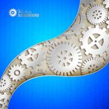 Mechanical gears background. Vector illustration stock images
