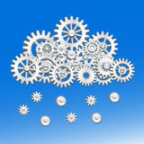 Mechanical gears cloud Royalty Free Stock Images
