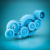 Mechanical gears 3d model Stock Image