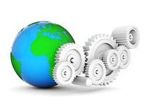 Mechanical gears Stock Photo