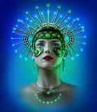 Mechanical Girl, 3d CG Royalty Free Stock Photography