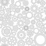 Mechanical grey gear on a white background Stock Image