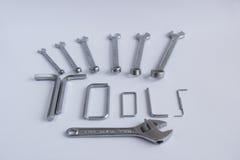 Mechanical hand tools stock photo