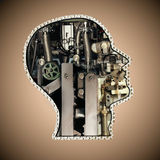 Mechanical head Royalty Free Stock Image