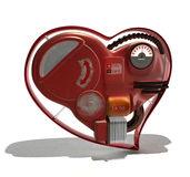 Mechanical heart. The mechanical heart, the isolated object on a white background stock illustration