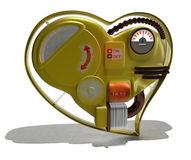 Mechanical heart. Isolated on a white background stock illustration