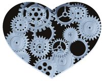 Mechanical heart Stock Photo