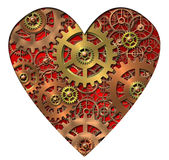 Mechanical heart. Abstract image of the mechanical heart - gears Stock Photos