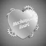 Mechanical heart. Abstract mechanical heart. Vector illustration royalty free illustration