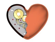 Mechanical heart Stock Photo