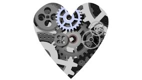 Mechanical heart. Cartoon animation of the mechanical heart royalty free illustration