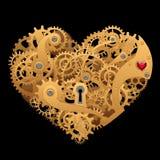 Mechanical heart. Mechanical gears heart in vector vector illustration