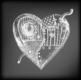 Mechanical heart Royalty Free Stock Photography