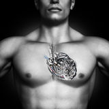 Mechanical heart. Healthy human heart concept. Stock Photography