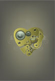 Mechanical heart illustration Stock Photography