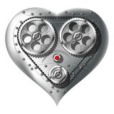 Mechanical heart. Isolated on white background. Gradient mash Royalty Free Stock Images