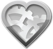 Mechanical heart of steel Royalty Free Stock Images