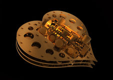 Mechanical Heart V8 Royalty Free Stock Photography