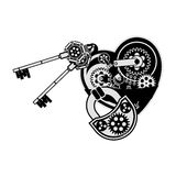 Mechanical heart valentine Stock Photo