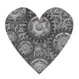 Mechanical heart - vector. Abstract illustration of the mechanical heart - vector Stock Photo