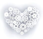 Mechanical Heart (white) Royalty Free Stock Photo