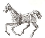 Mechanical horse Royalty Free Stock Photo