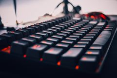 Mechanical keyboard royalty free stock photography