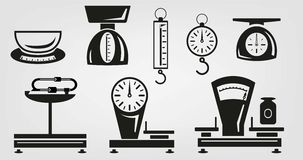 Mechanical kitchen scales Royalty Free Stock Image