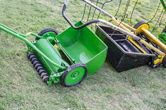 Mechanical lawn mower Royalty Free Stock Image