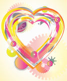 Mechanical light Valentine heart. Mechanical light digital background with heart Royalty Free Stock Image