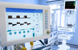 Mechanical Lung ventilation in ICU Stock Photo