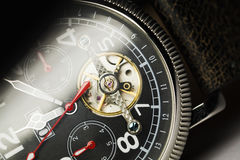 Mechanical luxury men wrist watch Royalty Free Stock Photos