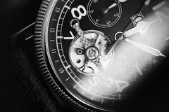 Mechanical luxury men wrist watch Royalty Free Stock Image