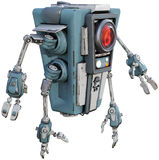 Mechanical Machine Robot Android Isolated Royalty Free Stock Photo